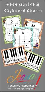 free guitar chord charts and keyboard posters for your music class