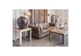 home canapé canapé 3 places chesterfield en toile capitonné kaki naturellement