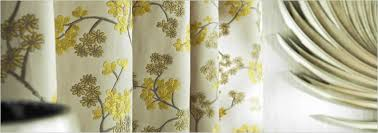 White And Yellow Curtains Chinoiserie Embroidered Flowers White Gold Yellow Luxury Curtains