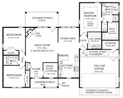 House Plans Traditional First Floor Plan Of Cape Cod Ranch Traditional House Plan 59065