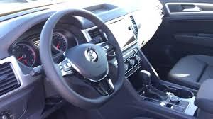 volkswagen atlas white interior interior on the all new 2018 vw atlas sel titan black youtube