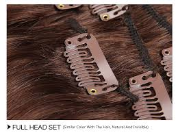 clip on extensions malaysian hair clip in hair extensions 80g