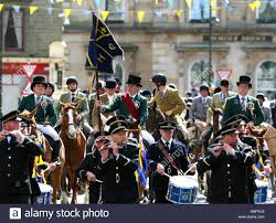 customs and traditions hawick common stock photo royalty