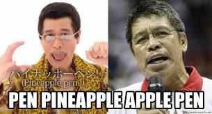 Pen Meme - pineapple apple pen