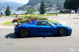 Porsche 918 Blue - porsche 918 spyder 28 april 2017 autogespot