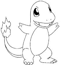 pokemon charmander coloring page coloring home