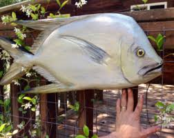 Fish Home Decor Accents Tarpon Fish Wooden Chainsaw Carving 3 Ft Wall Mount Taxidermy