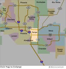 az city map tempe area map and surrounding cities