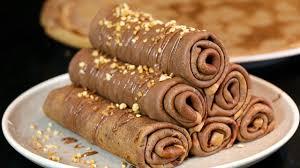 crepes hervé cuisine recette des crêpes au nutella roulées