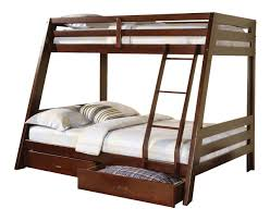 Twin And Full Bunk Beds by Youth Twin Full Bunk Bed In Cappuccino 460228