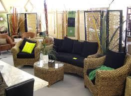 indoor wicker furniture living room furniture tufted sofa gray
