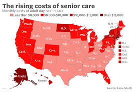which state has the lowest cost of living here s how much elder care costs in your state marketwatch