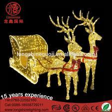 led 3d reindeer with sleigh light led 3d reindeer with sleigh
