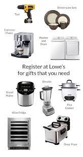 lowe s bridal registry the knot ordinary lowes wedding gift registry 4