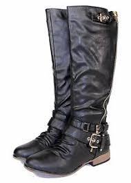 s boots comfort chapter 13 fashion knee high zipper buckles low heel comfort