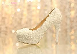 wedding shoes kuala lumpur hnadmade women sweet white flowers lace platform high heels pearl