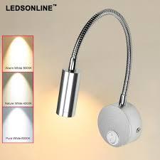 Gooseneck Wall Sconce Ledsonline 3w Led Wall Sconce Lamp Silver Spotlight Reading Light