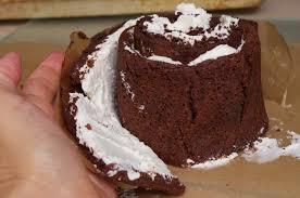 pancake drama chocolate cream swiss roll up cake