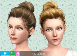 ballerina bun hairstyle 120 sakura by newsea sims 3 hairs