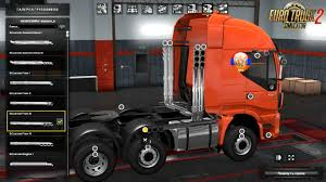skin pack new year 2017 for iveco hiway and volvo 2012 2013 iveco hi way off road chassis additional exhausts v1 0 1 28 x
