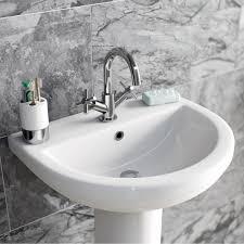 enki oxford designer bath filler shower basin mixer wall mount tap