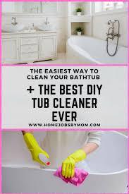Bathtub Cleaner Vinegar The Easiest Way To Clean Your Bathtub Diy Tub Cleaner