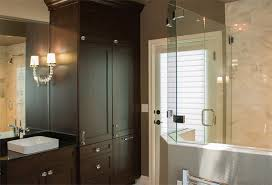 bathroom gallery a traditional tulsa bathroom remodeling receives plenty of storage with a transitional cabinet design