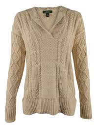 cable knit sweater womens co s cable knit hooded sweater ebay