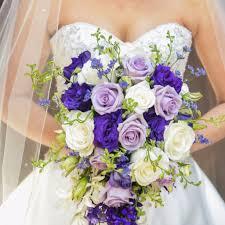 Cascade Bouquet Lavender U0026 Purple Cascade Bouquet U2013 The Blooming Idea