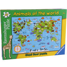 Floor Games by Ravensburger Animals Of The World 60pc Giant Floor Puzzle 9 00