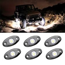 jeep lights on top amazon com led rock light kits with 6 pods lights for jeep off