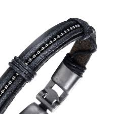 black strap bracelet images Neptune leather strap bracelet andromeda 8 jpg