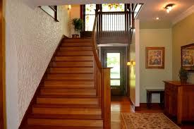 Craftsman Wall Sconce Craftsman Staircase With Maple Flooring U0026 Wall Sconce In Oakwood
