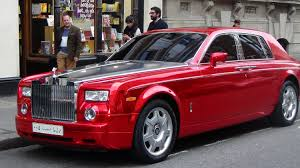 roll royce fenice rolls royce phantom garish chrome red funniest ever seen in