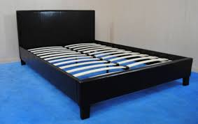 pu leather double bed frame city furniture shop