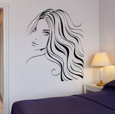 popular wall stickers face buy cheap wall stickers face lots from sexy girl beautiful hair barber wall mural for room decora decal sexy salon woman face art