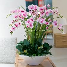orchid flower arrangements phalaenopsis white silk flowers artificial orchid flower arrangement