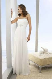 white casual wedding dresses ruched chiffon beaded simple white chiffon casual wedding gowns on