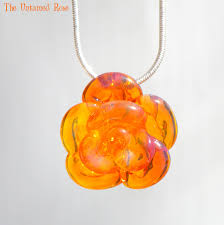 glass flower necklace images Yellow rose necklace glass untamedrose jpg