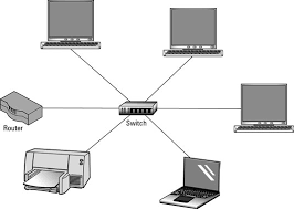 Design A Home Network Connected By An Ethernet Hub Selecting A Router Or Switch For A Home Network Dummies