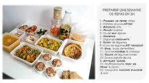 cuisiner pour la semaine en 2h max les gourmandises de léa