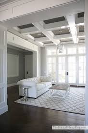 coffered ceiling paint ideas coffered ceilings in 15 contemporary living rooms ceilings
