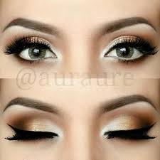 bronze makeup fro eyes would look nice with navy ball prom dress