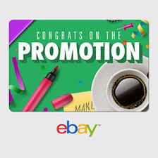 digital gift cards ebay digital gift card congrats promotion at work email