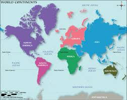 map continents continents map world map continents map of continents 7