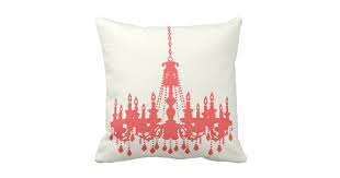 Chandelier Designer Peachy Coral Chandelier Designer Pillow Zazzle