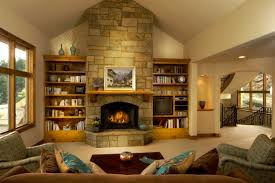 living room amazing stones exposed walls panels for fireplace