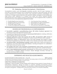 Example Resume Sales Mba Sales And Marketing Resume