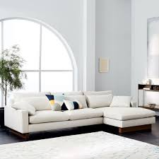 west elm harmony sofa reviews harmony down filled 2 piece chaise sectional comfortable sofa