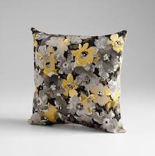 field of flowers pillow grey and gold pillows at hom